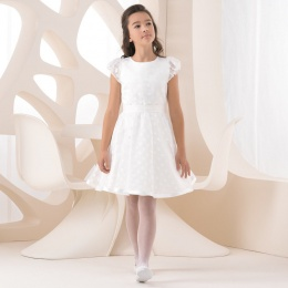 Girls Polka Dot Knee Length Dress by Lacey Bell Style K230