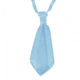 Boys Sky Blue Adjustable Scrunchie Wedding Cravat