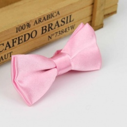 Boys Light Pink Satin Bow Tie with Adjustable Strap