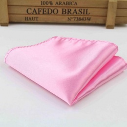 Boys Light Pink Satin Pocket Square Handkerchief