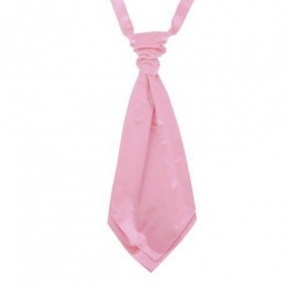 Boys Light Pink Adjustable Scrunchie Wedding Cravat