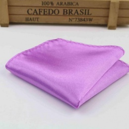 Boys Light Purple Satin Pocket Square Handkerchief