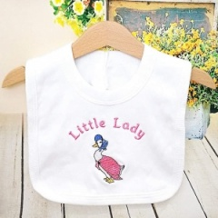 White Little Lady Jemima Puddle Duck Bib