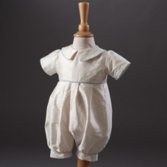 Baby Boys Millie Grace 'Louie' Christening Romper