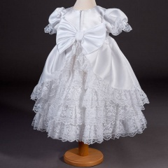 Girls Millie Grace Maddison Lace & Satin Christening Dress