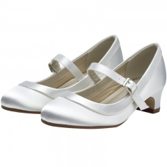 Maisie by Rainbow Club White Satin Shoes