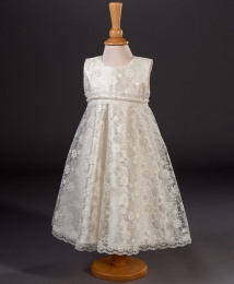 Girls Lace & Pearl Special Occasion Dress - Maria by Millie Grace