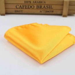 Boys Marigold Satin Pocket Square Handkerchief