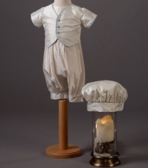 Baby Boys Millie Grace Max Silk Christening Romper & Hat