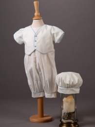 Baby Boys Cotton Romper & Hat - Max by Millie Grace