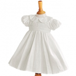 Girls Ivory Christening Dress with Cross - Elizabeth by Millie Grace