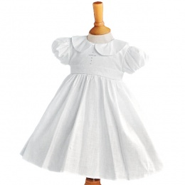 Girls White Christening Dress with Cross - Elizabeth by Millie Grace