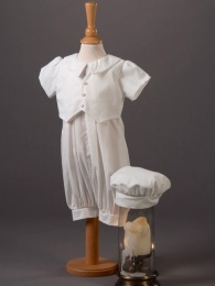 Baby Boys Cotton Romper & Hat - Ethan by Millie Grace