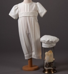 Baby Boys Millie Grace Jacob Cotton Christening Romper & Hat
