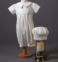 Baby Boys Millie Grace Louie Cotton Christening Romper & Hat