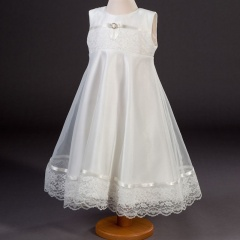 Girls Millie Grace Martha Lace & Smooth Organza Dress