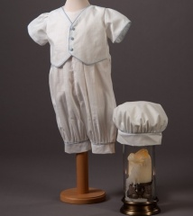 Baby Boys Millie Grace Max Cotton Christening Romper & Hat