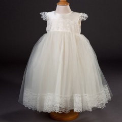 Girls Millie Grace Minnie Lace & Organza Christening Dress