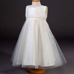 Girls Millie Grace Muriel Pearl Trim & Glitter Tulle Dress