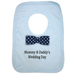 Mummy & Daddy's Wedding Day Blue Bib