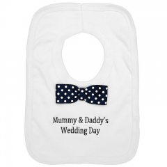 Mummy & Daddy's Wedding Day White Bib