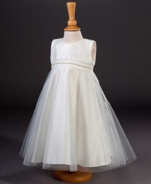 Girls Pearl Trim & Glitter Tulle Dress - Muriel by Millie Grace