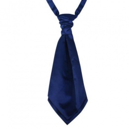 Boys Navy Adjustable Scrunchie Wedding Cravat
