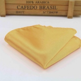 Boys Old Gold Satin Pocket Square Handkerchief