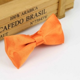 Boys Orange Satin Dickie Bow with Adjustable Strap