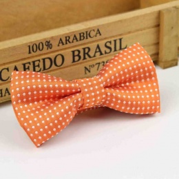 Boys Orange Polka Dot Bow Tie with Adjustable Strap