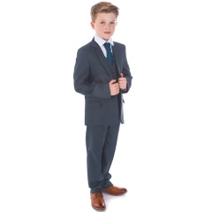 Boys Petrol Blue 5 Piece Slim Fit Suit ''Exclusive''