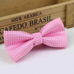 Boys Pink Polka Dot Bow Tie with Adjustable Strap