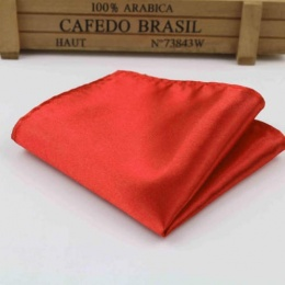 Boys Poppy Red Satin Pocket Square Handkerchief