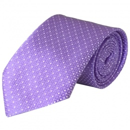 Boys Purple Dot Satin Tie (45'')