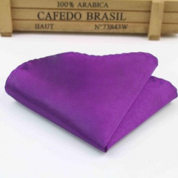 Boys Purple Satin Pocket Square Handkerchief