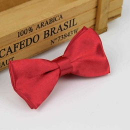 Boys Red Satin Bow Tie with Adjustable Strap