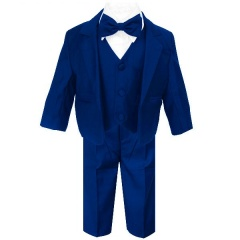 Baby Boys Royal Blue 5 Piece Bow Tie Suit
