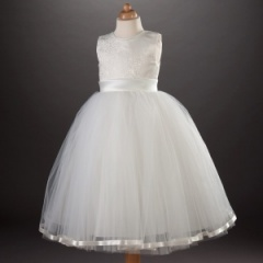 Busy B's Bridals 'Saffron' Brocade & Tulle Porcelain Dress