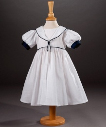 Baby Girls Linen Look Cotton Sailor Dress - Tanya by Millie Grace