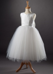 Girls Sweetheart Diamante Tulle Dress - Tate by Busy B's Bridals