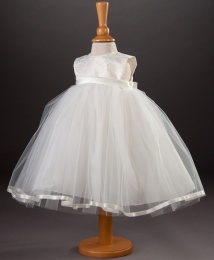 Baby Girls Brocade & Tulle Dress - Tilly by Millie Grace