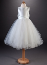 Girls Crystal Tulle Dress - Tinkerbell by Busy B's Bridals