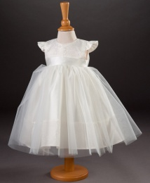 Baby Girls Brocade & Organza Dress - Tulip by Millie Grace
