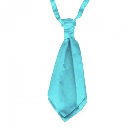 Boys Turquoise Adjustable Scrunchie Wedding Cravat