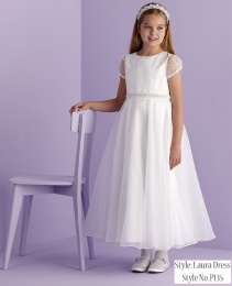 White Spot Holy Communion Dress - Laura P135 by Peridot