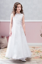 Emmerling White Communion Dress - Style Anastasia