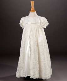 Anya by Millie Grace - Baby Girls Lace Christening Gown & Bonnet