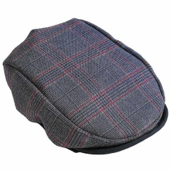 Baby Boys Navy & Red Check Flat Cap