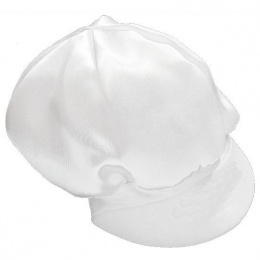 Baby Boys White Plain Satin Cap Hat