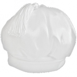 Baby Boys White Satin Tassel Hat